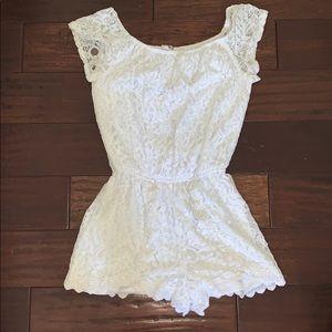 White romper (worn once)